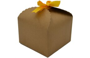 GIFT BOX  11,5x11,5x8,5cm WITH YELLOW RIBBON